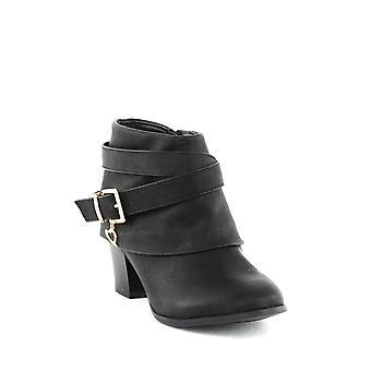 Thalia Sodi | Botas de tornozelo de salto do bloco de teca