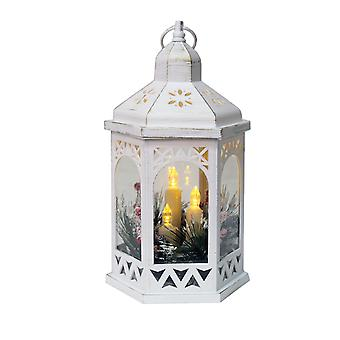 Straits LED Decorative White Lantern
