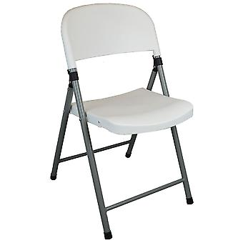 Heavy Duty Plastic Folding Chair - Easy Store Office Chairs Seating Events Arts and Crafts -