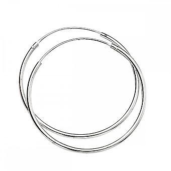بدايات الجنيه الاسترليني الفضة H244 30mm X 1.5mm أقراط هوب