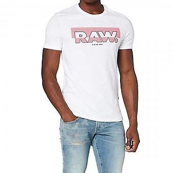 G-Star Raw Graphic Logo T-Shirt White D17689