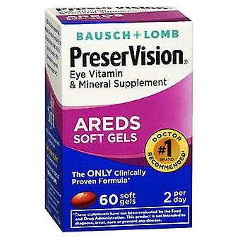 Bausch And Lomb Preservision Eye Vitamin And Mineral Supplements With Areds, 60 sgels