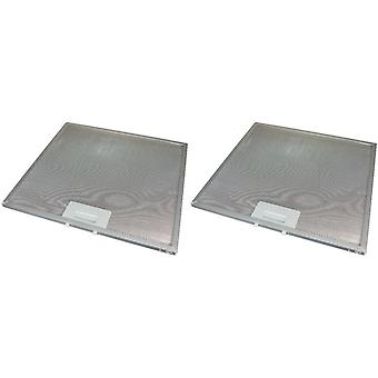 2 x Universal Cooker Hood Metal Grease Filter 330mm x 320mm