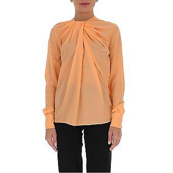 Victoria Beckham 1320wtp001560a Women's Orange Silk Blouse