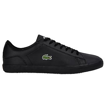 Lacoste Mens Lerond Nappa Leather Lace Up Crocodile Tennis Trainers
