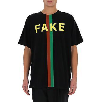 Gucci 616036xjcxx1082 Men's Black Cotton T-shirt