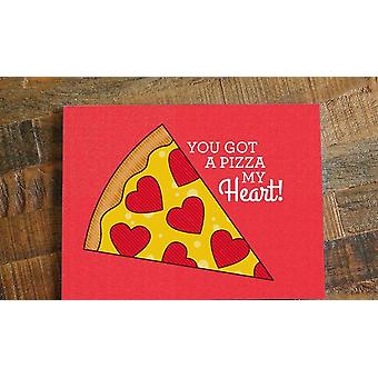 بطاقة الحب & كنت حصلت على البيتزا قلبي!& نقلا عن;