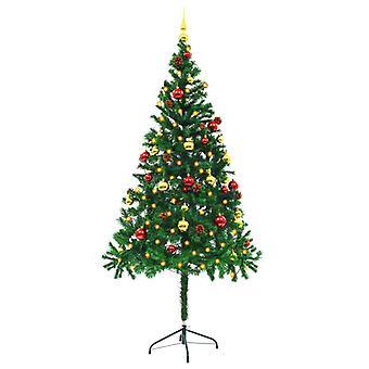 vidaXL人工クリスマスツリー装飾ボールLED 180センチグリーン