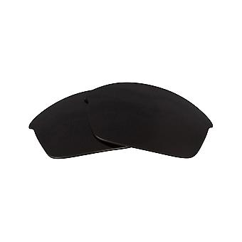 Replacement Lenses for Oakley Flak Jacket Sunglasses Anti-Scratch Dark Black
