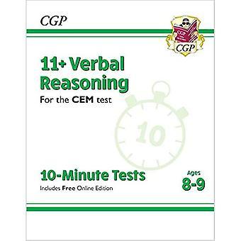 Nye 11 + CEM 10-minutters tests: verbal ræsonnement-aldre 8-9 (med online udgave)