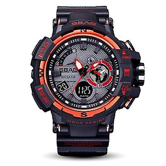 SBAO S8008 Dual Display Digital Watch Men Fashion Style Calendar Stopwatch