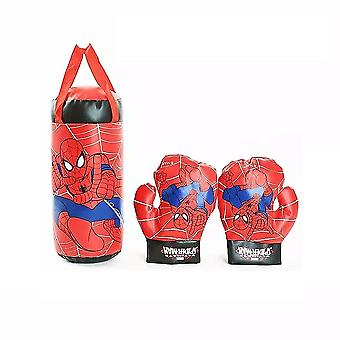 A Pair Of Spiderman Boxing Gloves+ One Sandbag Suit