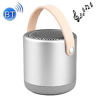 A056  Portable Outdoor Metal Bluetooth V4.1 Speaker with Mic, Support Hands-free & AUX Line In (Silver)