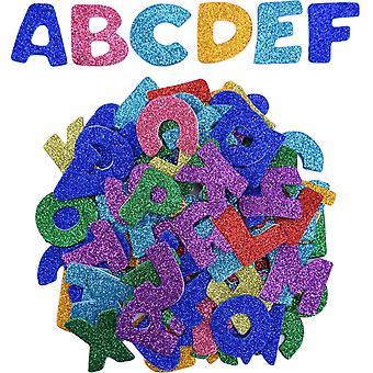 Glitzer-Schaum-Aufkleber Brief Aufkleber selbstklebende Buchstaben, verschiedene Farben, 5 Sätze