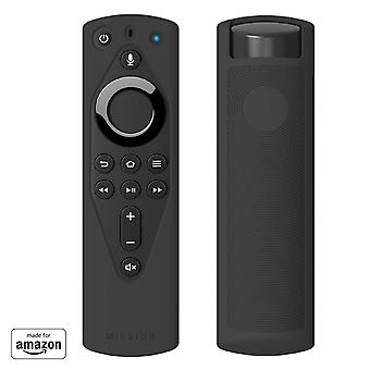 Mission remote case for the all-new fire tv voice remote (2018 version), midnight black