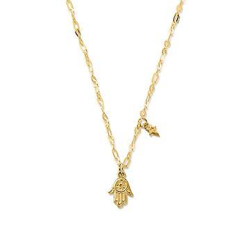 ChloBo GNLC4013 Gold Tone Delicate Hamsa Hand Necklace
