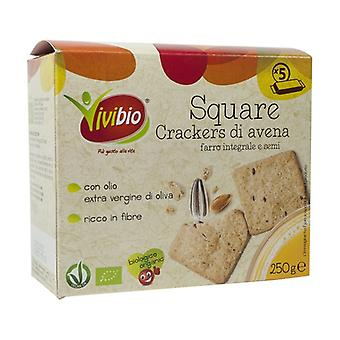 Square - oat and wholemeal spelled crackers and seeds None
