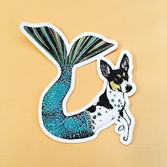 Mermaid Dog Vinyl Sticker