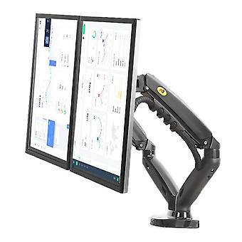 Dual Monitor Holder Arm With 2 Usb, Mount Bracket