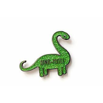 Dino-punkki Kimalteleva dinosaurus emali pinssi