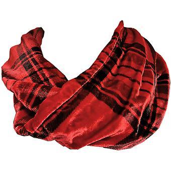 Tartan Silk Infinity Scarf Boxed Red  by Ladycrow Scotland