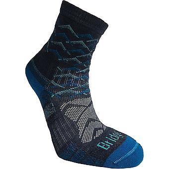 Bridgedale Hike LW Performance Ankle Sock Women Blue (Large)