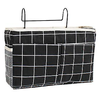 Black Fabric Storage Organizer Hanging Bag Home Bedroom Bedside Office Table Kitchen Hanging Basket Modern New Type Colors with Hook Sundries