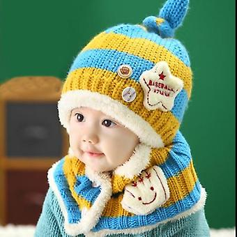 Unisex Herbst, Winter Baby Hut + Sarf Set, Säugling Caps