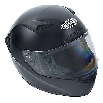 GSB G-355 Full Face Motorfiets Road Helm Gloss Black S