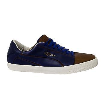 Puma AMQ Street Climb II Lo Blue Leather Lace Up Mens Trainers 354074 02