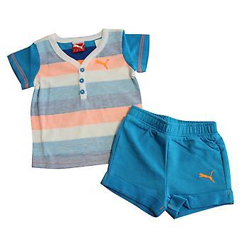 Puma Basic Boys Set Baby toddler Top Scurt Copii Albastru 827934 01