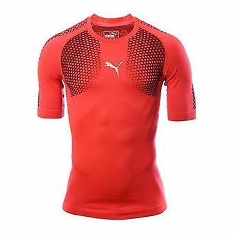 Puma IT evoTRG ACTV Thermo-R Męska koszulka piłkarska Red Blast 654900 55 R1A