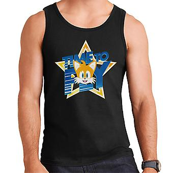 Sonic The Hedgehog Tails Excited Time To Fly Men's Weste