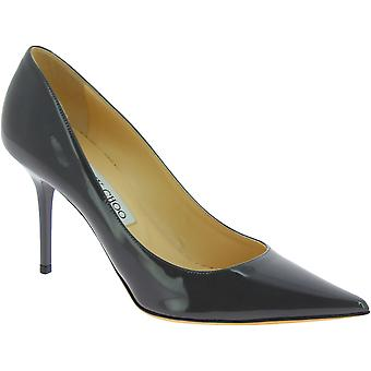 Jimmy Choo Women's fashion high heels pumps shoes in gray patent leather