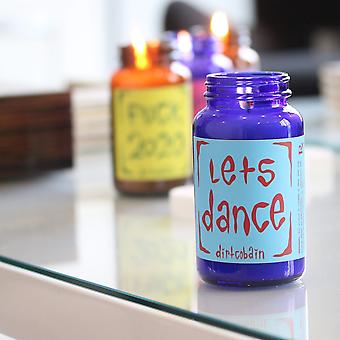 """""""let's Dance"""" Pill Bottle Candle By Dirt Cobain"""
