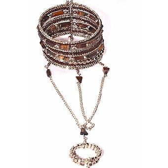 Bracelets exotiques de pierre gemme et anneau