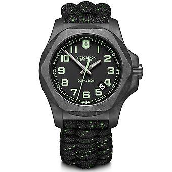 Victorinox Swiss Army 241859 I.n.o.x. Carbon Black Paracord Strap Watch Set