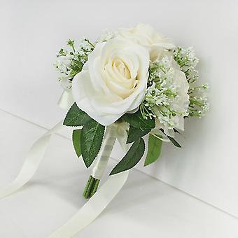 العروس روز زهرة باقة اصطناعية لحفل زفاف