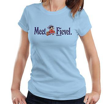 Amerikkalainen häntä tavata Fievel Mousekewitz Women's T-paita