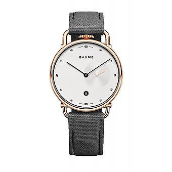 Baume & Mercier BM0A10600 White Opaline Dial Quartz Wristwatch