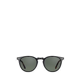 Garrett Leight OCEAN SUN black/amber-gold unisex sunglasses