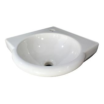 "Alfi Brand Ab104 Blanco 15"" Esquina Redonda Pared Montada Porcelana Lavabo Baño"