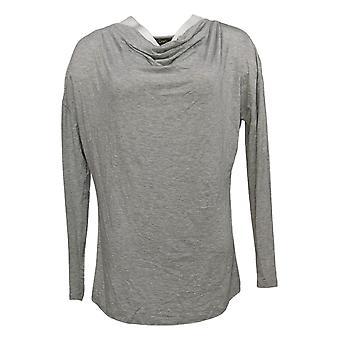 DG2 By Diane Gilman Women's Top Cowl Neck Long Sleeve Gray 716-482