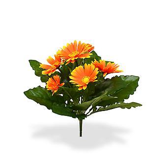 Kunstmatig Gerbera boeket 30 cm oranje