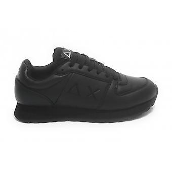 Running Sneaker Sun68 Tom Side Band Faux Leather Color Black U21su09