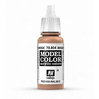 Vallejo Model Color 17ml Acrylic Paint - 804 Red Beige