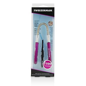 Tweezerman 滑らかな終わりのフェイシャルヘアリムーバー - ピンク(ブラックスラントTweezeretteette) 2個