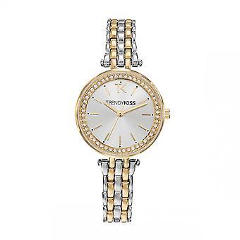 Trendy Kiss horloge TMG10107-03-stalen doos armband staal dor wijzerplaat zilver vrouwen