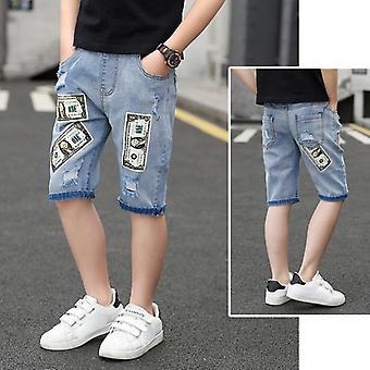 Børn Korte Denim Tynde korte bukser Stretch Board Shorts Jeans