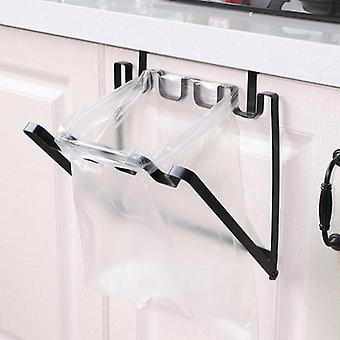 Kitchen Rubbish Bag Storage Garbage Cabinet Stand Organizer Hanger